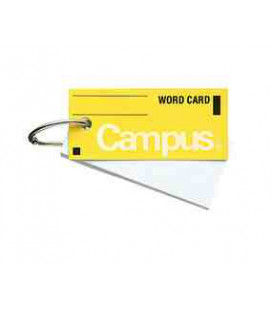 Mini vocabulary cards - Campus Kokuyo (85 sheets - yellow cover)